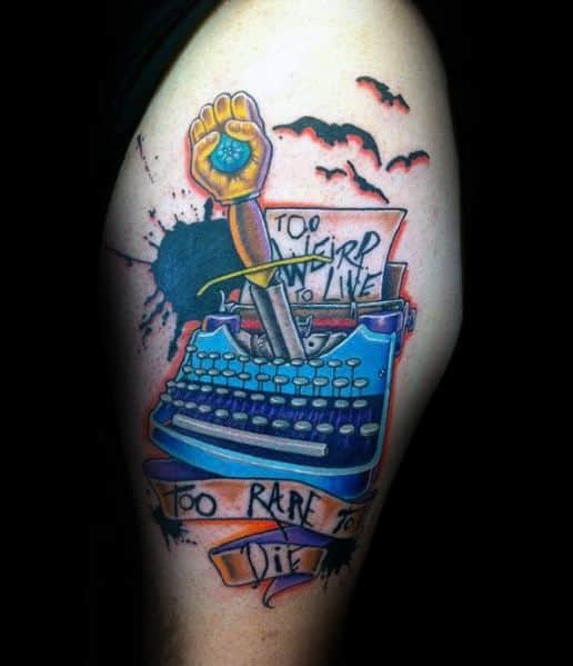 Hunter S Thompson Themed Tattoo Ideas