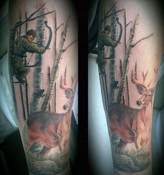 Hunting Arrow Tattoos For Males
