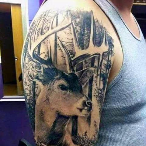 Hunting Forest Men's Tattoos