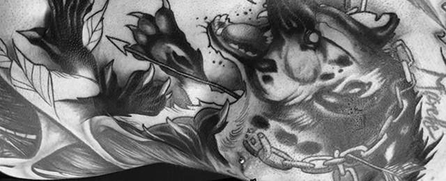 Hyena Tattoo Designs For Men