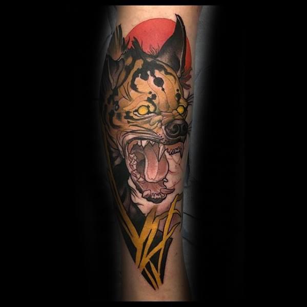 Hyena Tattoo On Men
