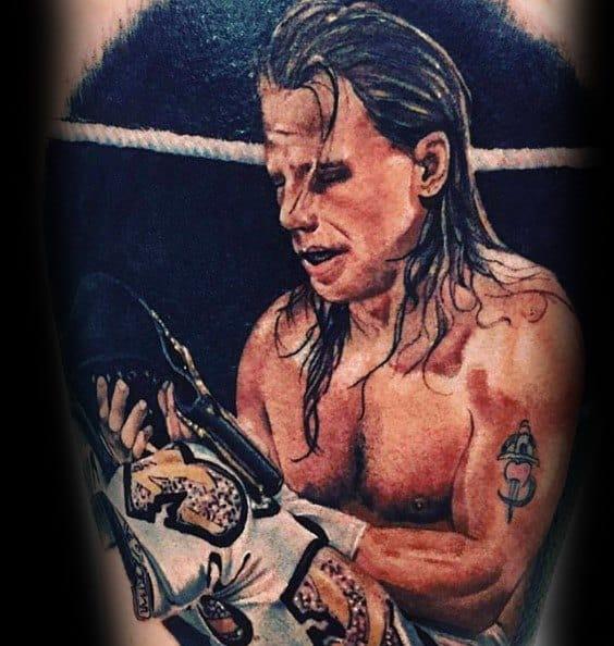 Hyper Realistic Arm 3d Wrestling Male Tattoo Designs