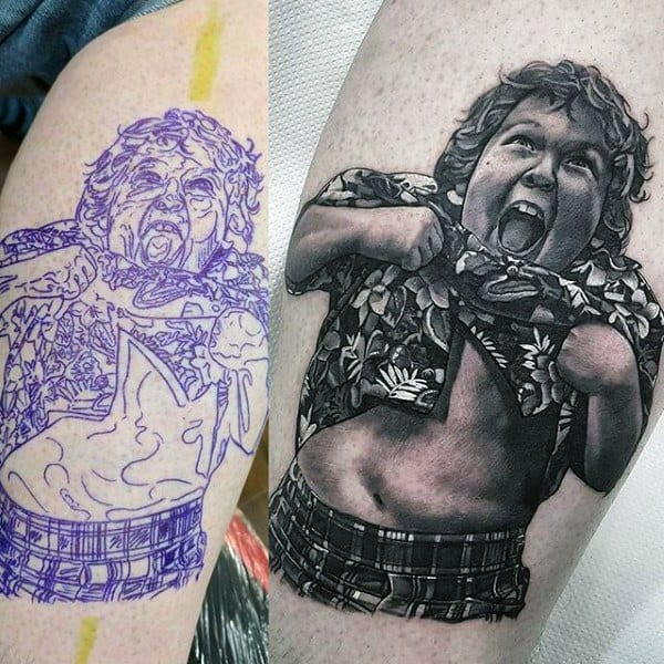 Hyper Realistic Goonies 3d Tattoos For Men