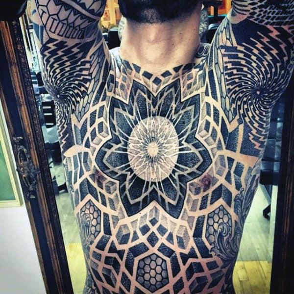 Hypnotising Black Design Tattoo Male Armpit