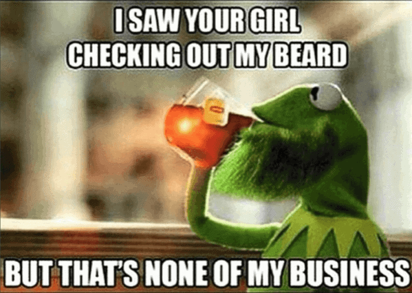 I Saw Your Girl Checking Out My Beard But That Is None Of My Business Beard Meme