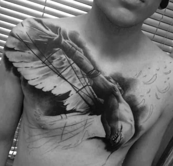 Icarus Wing Tattoos For Men On Chest