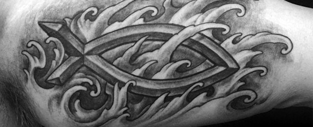 Ichthus Tattoo Designs For Men