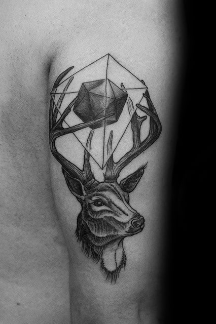 Icosahedron Guys Tattoo Ideas
