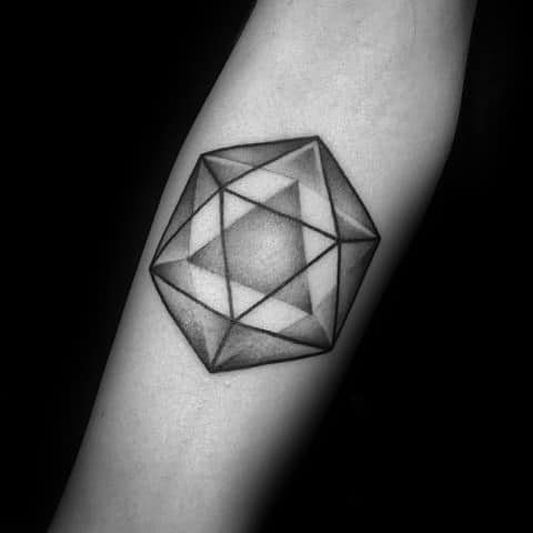 Icosahedron Male Tattoos