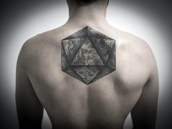 Icosahedron Mens Tattoo Ideas
