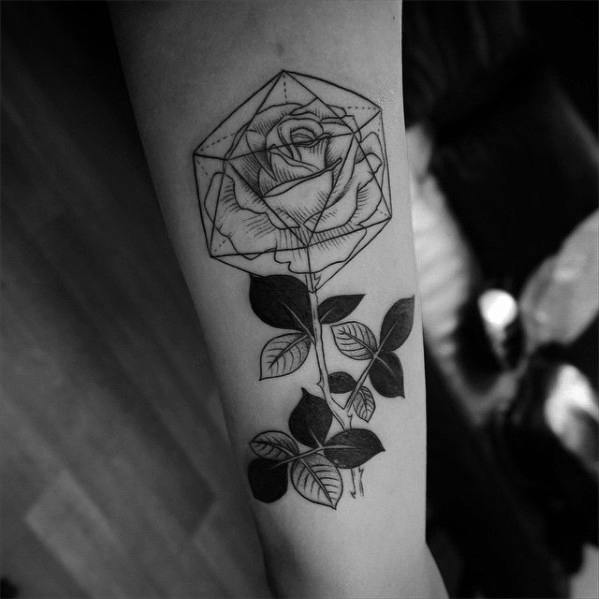Icosahedron Tattoo Designs For Guys