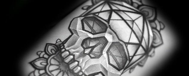 30 Icosahedron Tattoo Designs For Men – Geometric Shape Ink Ideas