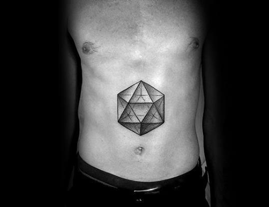 Icosahedron Tattoo Ideas For Males