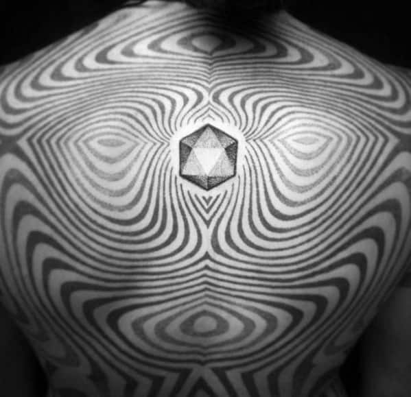 Icosahedron Tattoos For Gentlemen
