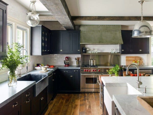 Idea Inspiration Black Kitchen Cabinet Designs