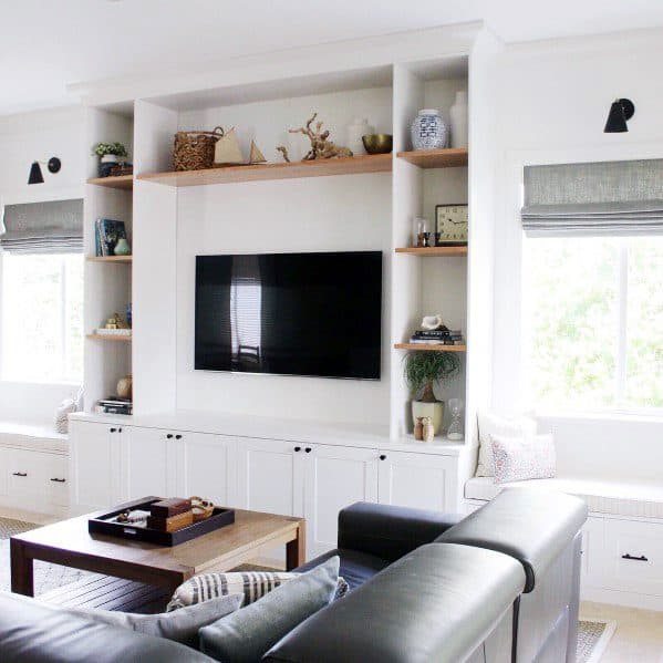 Idea Inspiration Built In Bookcase Designs Living Room