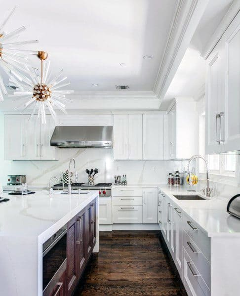 60 Kitchen Interior Design Ideas With Tips To Make One: Top 70 Best Crown Molding Ideas