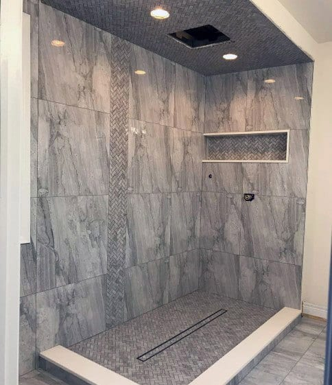 Idea Inspiration Grey Bathroom Tile Designs