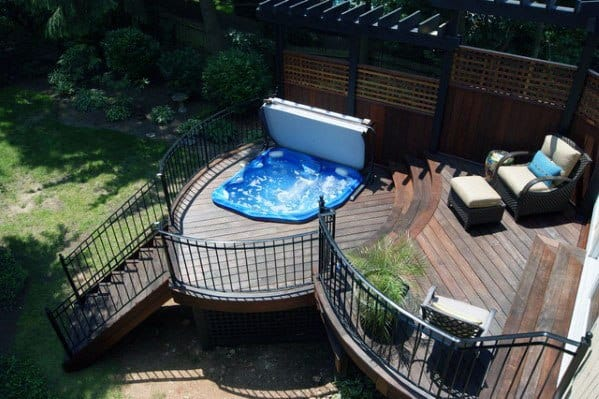 Idea Inspiration Hot Tub Deck Designs