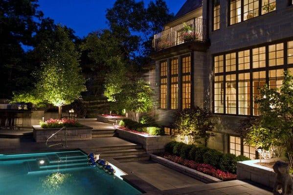 Idea Inspiration Landscape Lighting Designs Pool