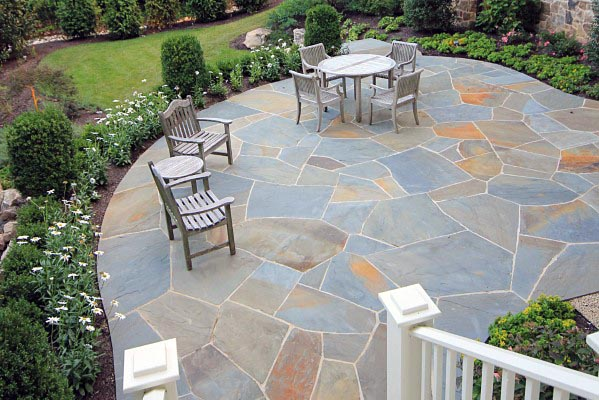 Idea Inspiration Large Flagstone Patio Designs