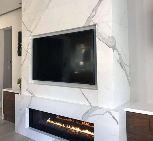Idea Inspiration Linear Fireplace Designs