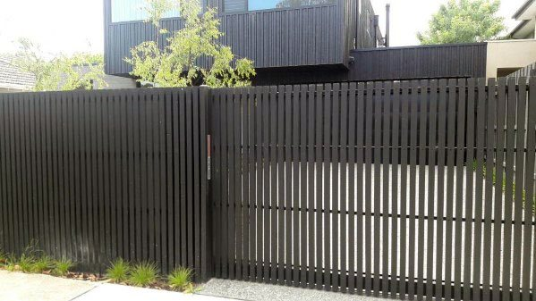 Idea Inspiration Modern Fence With Driveway Gate Metal Designs