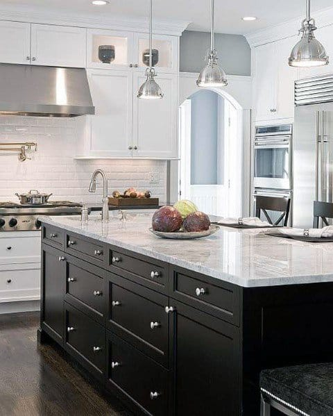 Ideas Black Kitchen Cabinet