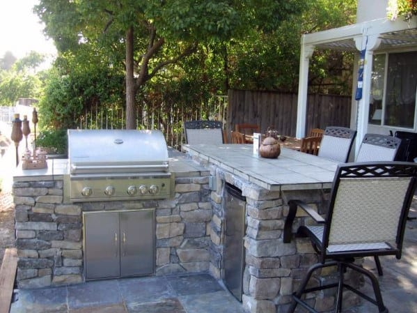 Ideas Built In Grill With Outdoor Bar
