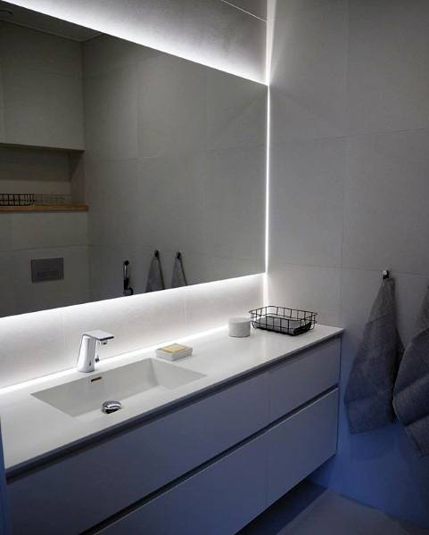 lighting ideas for basement bathroom