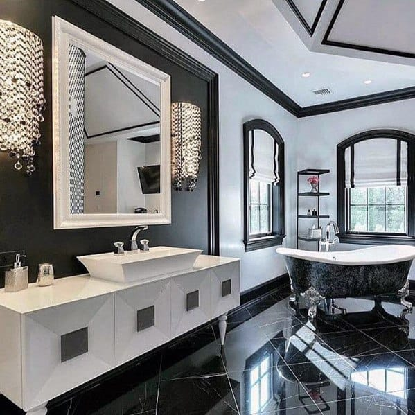 Ideas For Bathroom Lighting Crystal Wall Sconce