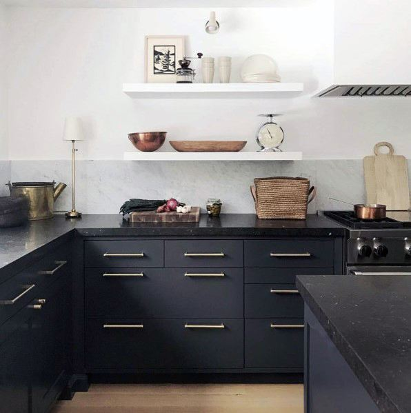 Ideas For Black Kitchen Cabinet Interior