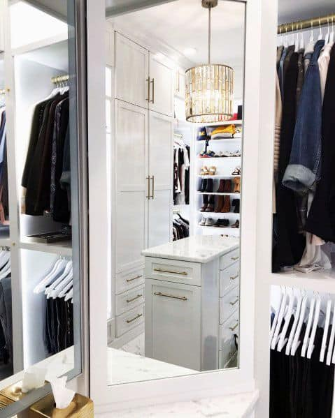 Ideas For Closet Lighting With Gold Chandelier