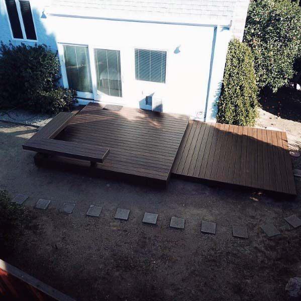 Ideas For Deck Bench Backyard