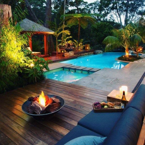 Ideas For Deck Fire Pit Backyard