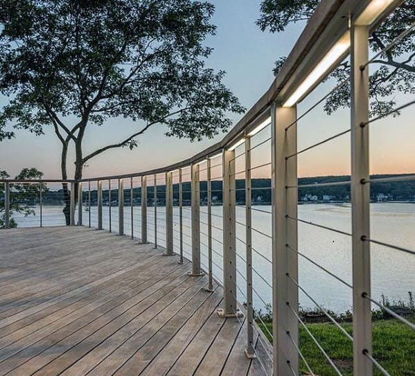 Ideas For Deck Railing With Led Lighting Under Handrail