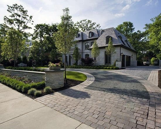 Ideas For Gravel Driveways With Stone Pavers Contemporary Design