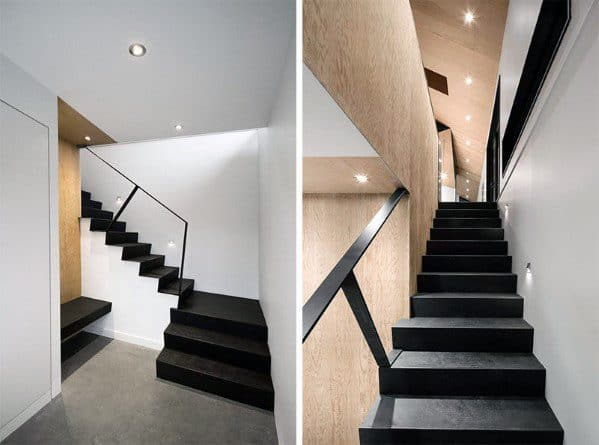 Ideas For Home Basement Stairs Painted Black