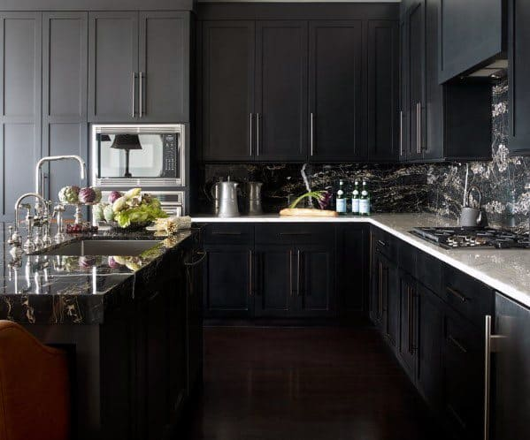 Ideas For Home Black Kitchen Cabinet