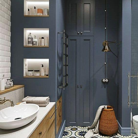Ideas For Home Blue Bathroom