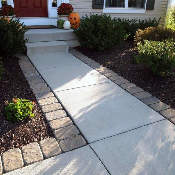 Ideas For Home Concrete Walkway