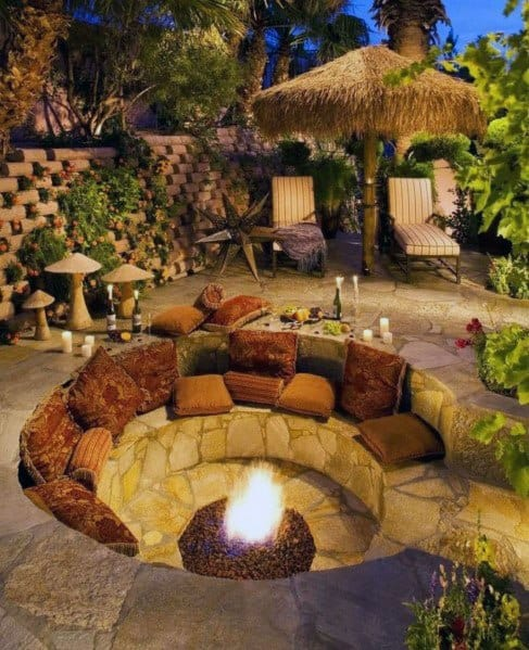Ideas For Home Fire Pit Seating