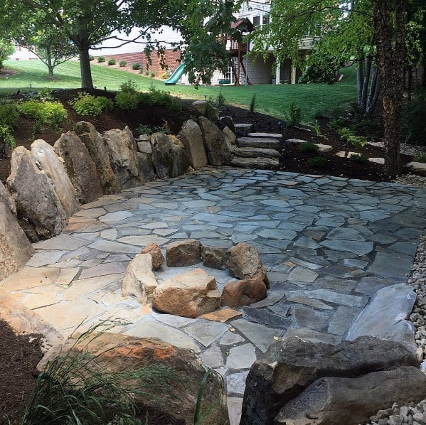 Ideas For Home Flagstone Patio