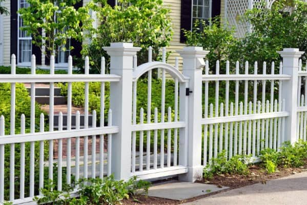 Ideas For Home Front Yard Fence White