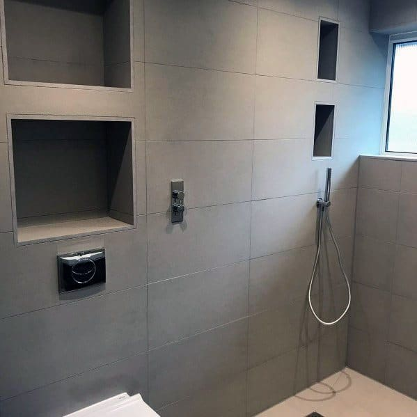 Ideas For Home Grey Bathroom Tile