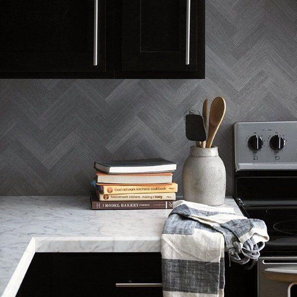 Contemporary Kitchen Backsplash Designs: Top 60 Best Wood Backsplash Ideas