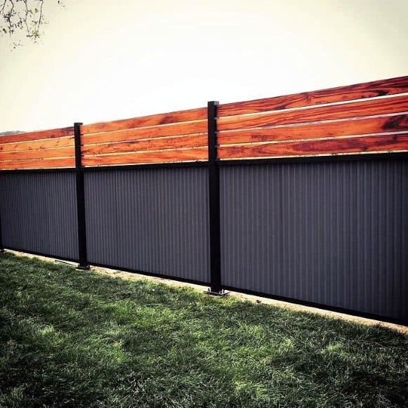 Ideas For Home Modern Fence Steel And Wood