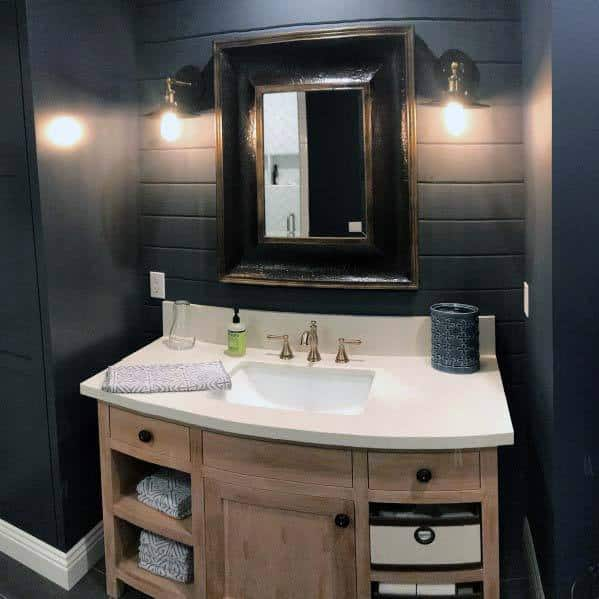 Top 50 Best Shiplap Bathroom Ideas Nautical Inspired Wall Interiors