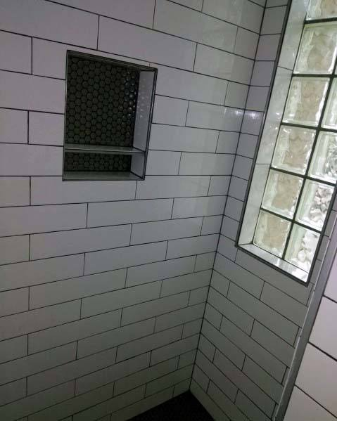 Ideas For Home Shower Vertical Glass Block