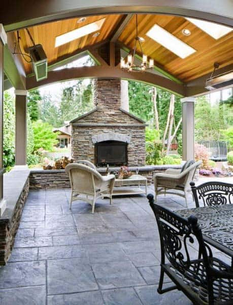 Ideas For Home Stamped Concrete Patio